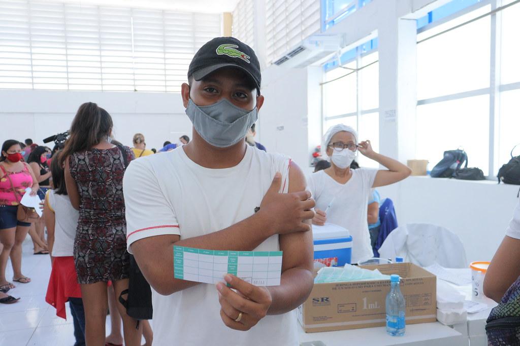 Em Manaus, mais de 100 mil adolescentes foram vacinados contra a Covid-19 em cinco dias de atendimento da Saúde municipal